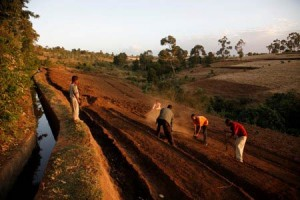 An improved irrigation system in Ethiopia shows how a modest project can make significant improvements in a community. (photo by Petterik Wiggers/Oxfam America