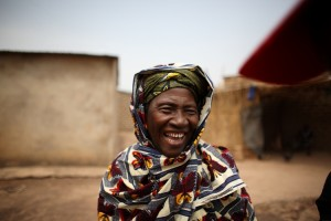 Moh Mariko, born in the year when it rained a lot (1945). Photo by Rebecca Blackwell/Oxfam America