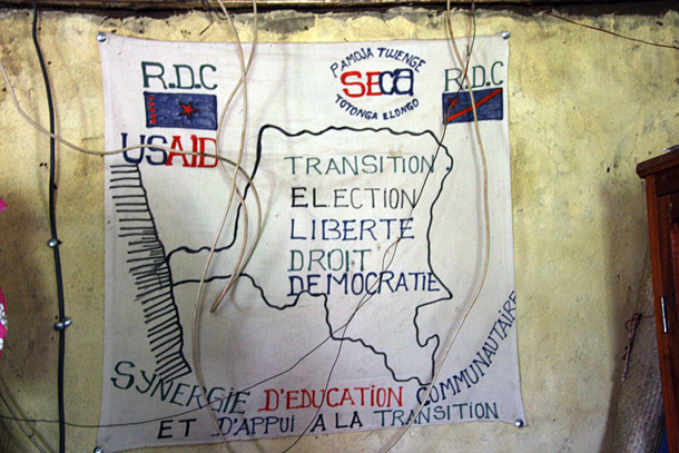 Liberty, rights, and democracy: Villagers in the Democratic Republic of Congo embraced those ideals when they turned out to vote in 2006. Photo by Liz Lucas for Oxfam America