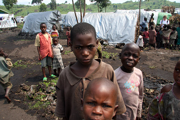 At Mugunga Camp in Democratic Republic of Congo, there is little for children to do. Photo by Liz Lucas/Oxfam America