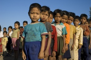 School in Lumphat village, Ratanakiri province, Cambodia; January 2007 - Photo by Brett Eloff/Oxfam America.