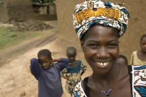 """Minata Konaré is proud of what she and others have done in her Saving for Change group in Mali. """"This is our own money,"""" she says. Brett Eloff/Oxfam America photo"""