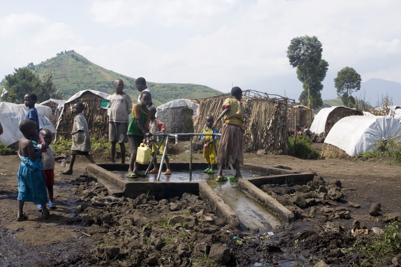 New arrivals are streaming into Bulengo Camp in Democratic Republic of Congo every day. The UN is seeking $700 billion in 2009 to help some of the millions of people around the world caught in conflict--like those in Congo. Photo by Oxfam