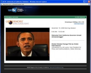 President-Elect Obama addressed the summit via taped remarks.