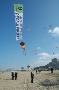 Oxfam launched this message for ministers meeting in The Hague. Photo by Ton Vrijenhoek